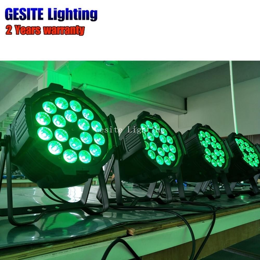 Guangzhou IP33 18x18 w mini par RGBWA UV LED stage Par 64 kan licht - 4