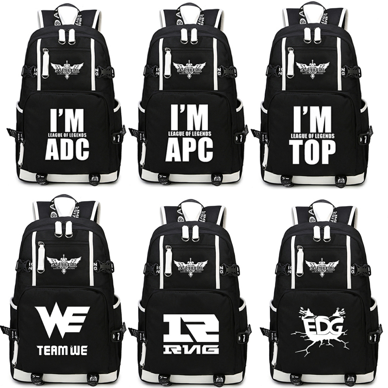 Game League of Legends LOL backpack student College Wind Leisure travel bag Shoulders Bag for Students book bag package