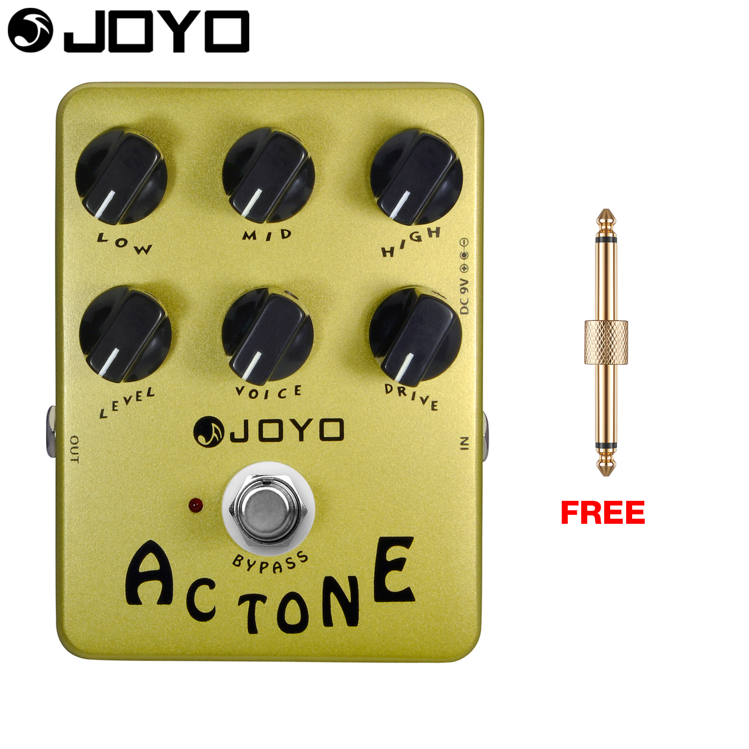 JOYO Ac Tone Electric Guitar Effect Pedal Amp Simulator Vox Style British Class A True Bypass JF-13 with Free Connector aroma adr 3 dumbler amp simulator guitar effect pedal mini single pedals with true bypass aluminium alloy guitar accessories