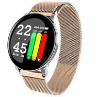 Relógio smartwatch esportivo ip67  à prova d' água  monitoramento de atividades físicas  monitor cardíaco  feminino  para android e ios