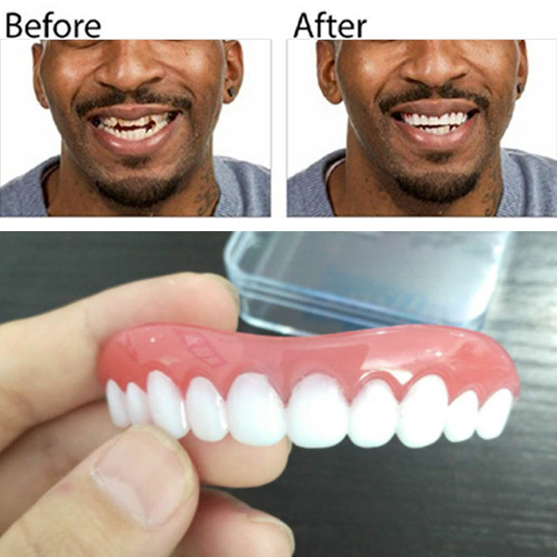 Профессиональный идеальный момент улыбка свободный крой Flex накладные протезы зубов Топ косметические стоматологические зубные силикагель верхний ряд