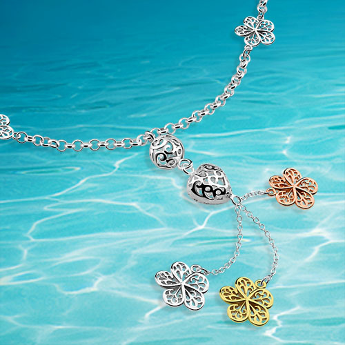 Collar de colgantes de corazón de mujer auténtica sólida, joyería de plata de ley 925, Collar de plata de encanto de mujer;
