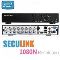 Seculink 8CH 16CH 1080N 5 в 1 AHD DVR PAL NTSC HDMI VGA H.265 сжатия P2P удаленного Управление CCTV регистратор системы наблюдения