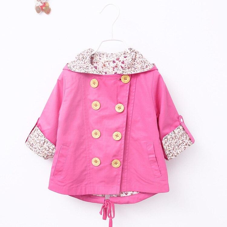 2016 winter coat for girls trench coat  girls windbreaker for girls jacket Winter childrens clothing coat jacket park Halloween costumes for kids pink red windbreaker with belt (16)