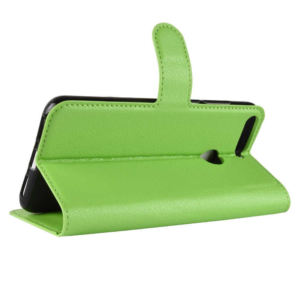 """Leder Brieftasche Flip Stand Abdeckung für Huawei Ehre 7C 5,7 """"Karte Slots Kick Phone Fall Tasche AUM-L41 Russische Version honor7C"""