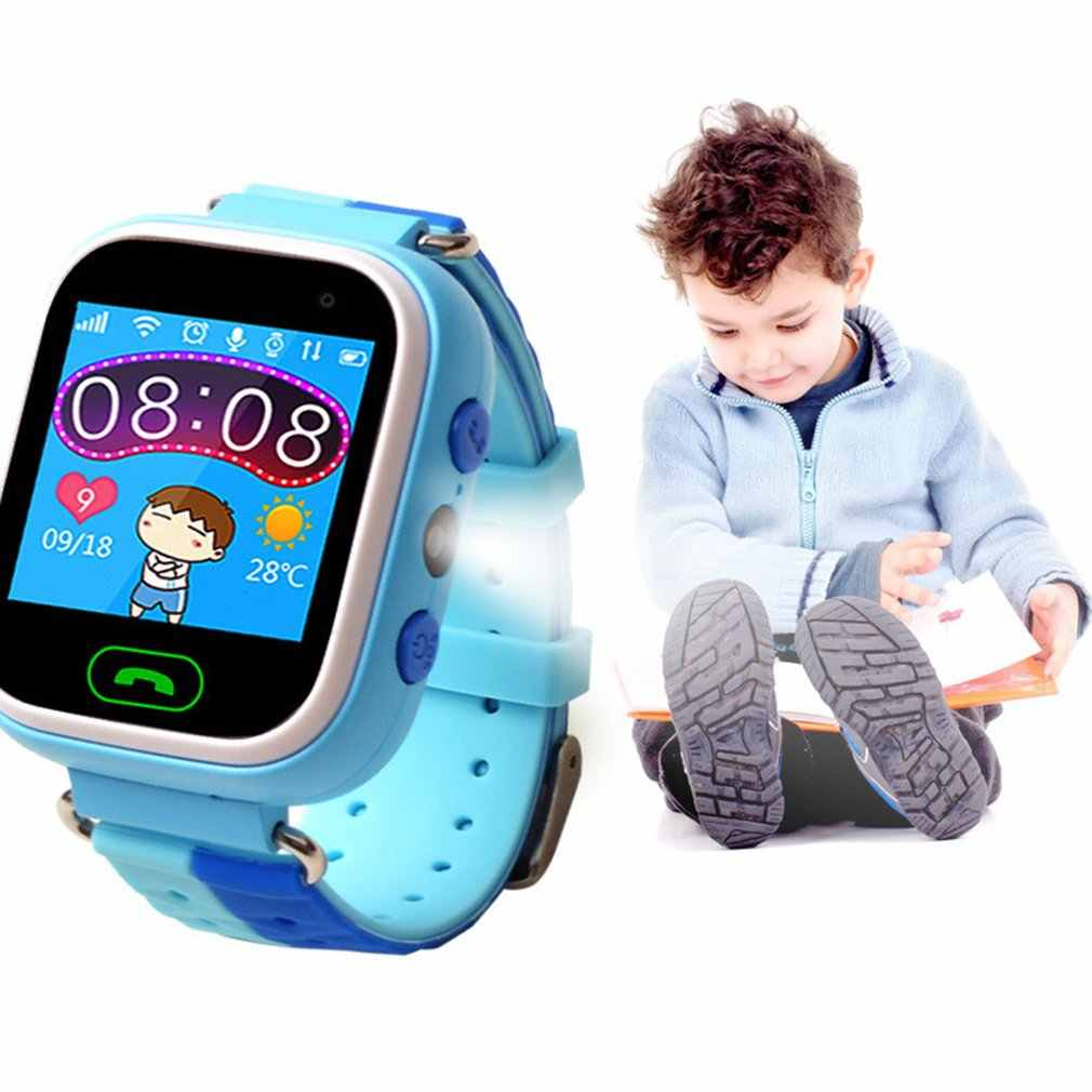 Q60 1.22 Inch Touch Screen Anti Lost Child GPS Tracker SOS Positioning Tracking Smart Phone Kids Safe Watch Practical Compatible