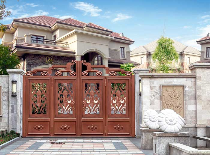 Home Aluminium Gate Design / Steel Sliding Gate / Aluminum Fence Gate Designs Hc-ag2