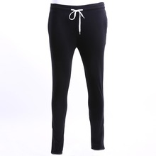 Mens 2017 Brand Male Trousers Men Pants Casual Solid Pants Sweatpants Jogger Pure Cotton Gray Black White M-XXL