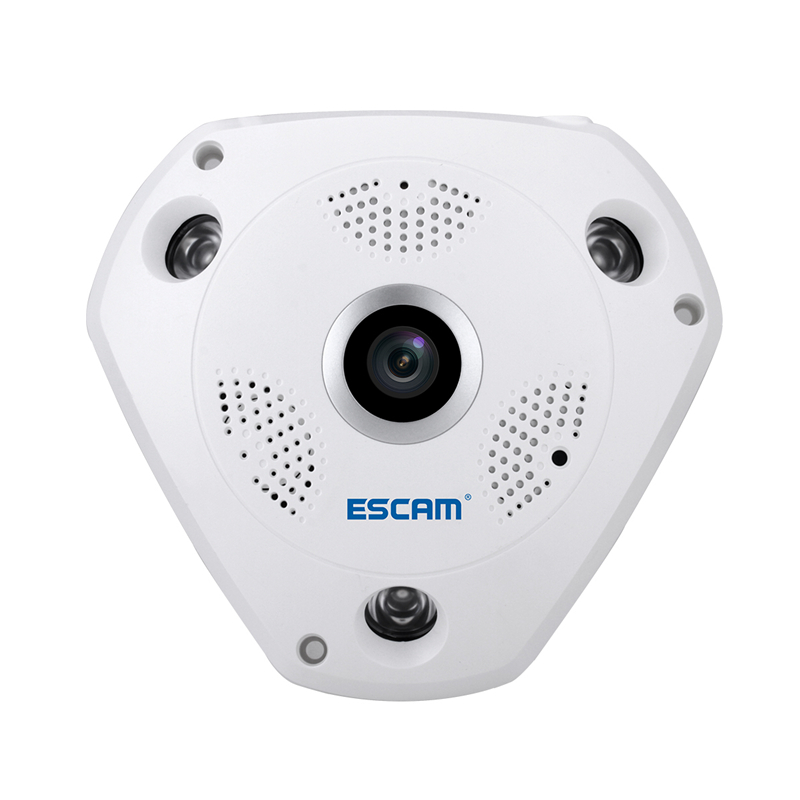 ESCAM 960P HD Mini Wifi IP Camera 360 Degree Home Security Wireless Panoramic Fisheye CCTV Camera 1.3MP PTZ VR Security Camera цена и фото