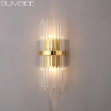 Постсовременный креативный Хрустальный настенный светильник, Северный Европейский Легкий Настенный светильник, украшение для прохода, прикроватные Настенные светильники для спальни, Lamparas