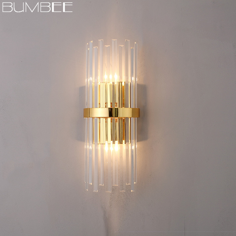Post-modern Creative Crystal Wall Lamp Northern Europe Light Wall Lighting Aisle Decoration Bedside Bedroom Wall Lights Lamparas
