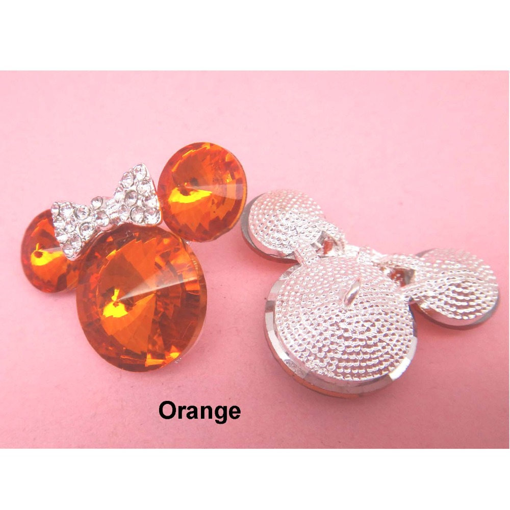 23x31mm 16colors Minnie Mouse with bow Bling rhinestone alloy button with  shank for hair bow center 120pcs RMM201-in Buttons from Home   Garden on ... 229cd4689b12