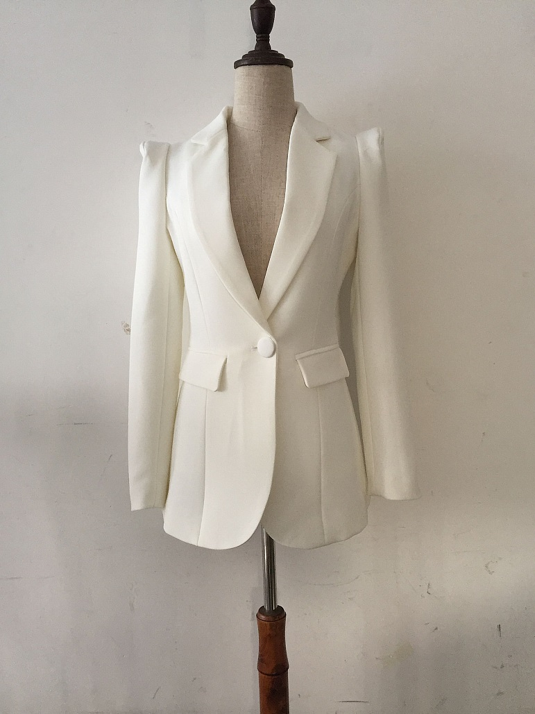 Custom made white Women Tuxedos Suits For Women jacket stright pants 2pcs Women Suits wedding suit office lady workwear