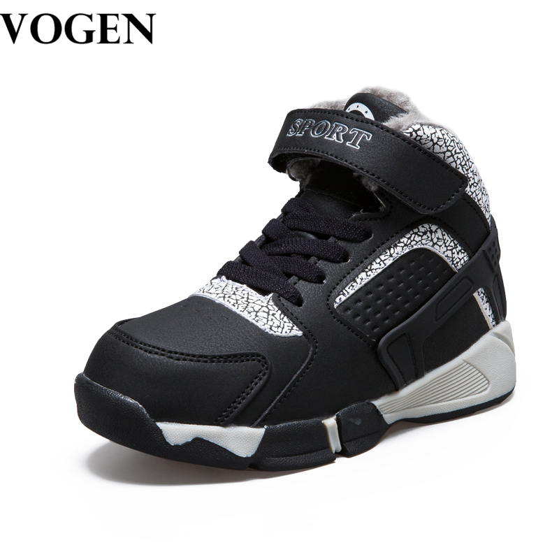 VOGEN 2017 Autumn Winter Children Shoes Ankle Boots for Boy Outdoor Snow Boots Child Felt Kids Shoes Boys Winter Shoes with Fur children s shoes autumn winter kids martin boots girls fashion leather boots boys motorcycle boots shoes child warming shoes
