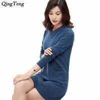 Элегантная женская обувь высокого качества свитер платье женские вечерние Модные женские 100% длинный кашемировый пуловер свитера женский с