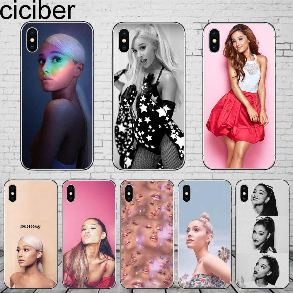 ciciber Ariana Grande Phone Cases for iPhone 11 Pro Max Cover For iPhone XR 8 7 6 6S Plus X XS MAX 5S SE Soft TPU Shell Coque