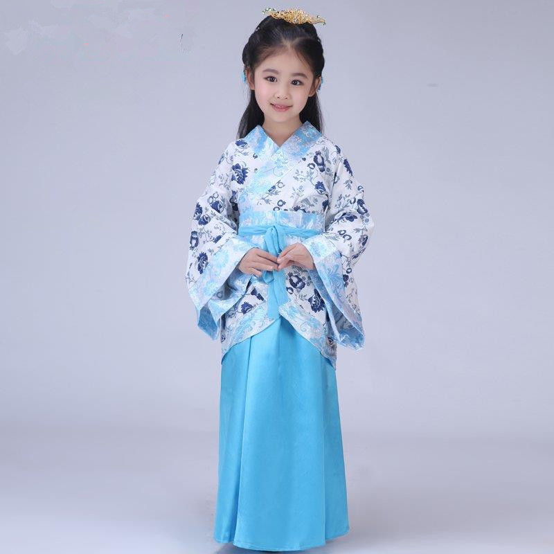 Kids Childs Clothes Chinese ancient Costume Hanfu dress