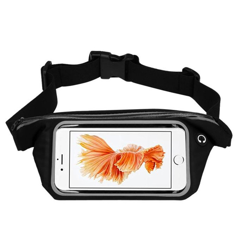 Outdoor Sports Running Waist Bag Utility Gym Fanny Pack Fitness Jogging Belt Bags 5.5 inch Cell Phone Pocket for Men Women #2a (14)