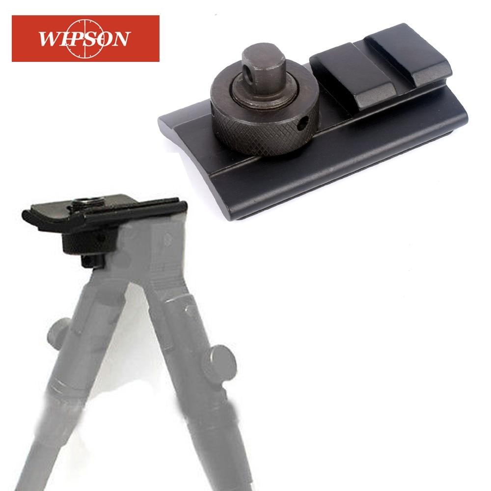 Tactical Hunting Swivel Mount Picatinny Slot Rail Stud Mount adapter For Bipod