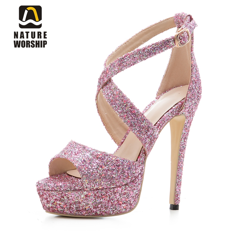 Platform shoes women for wedding women pumps pointed toe bling 14cm high heels stilettos wedding bridal shoes gladiator sandals sequined high heel stilettos wedding bridal pumps shoes womens pointed toe 12cm high heel slip on sequins wedding shoes pumps