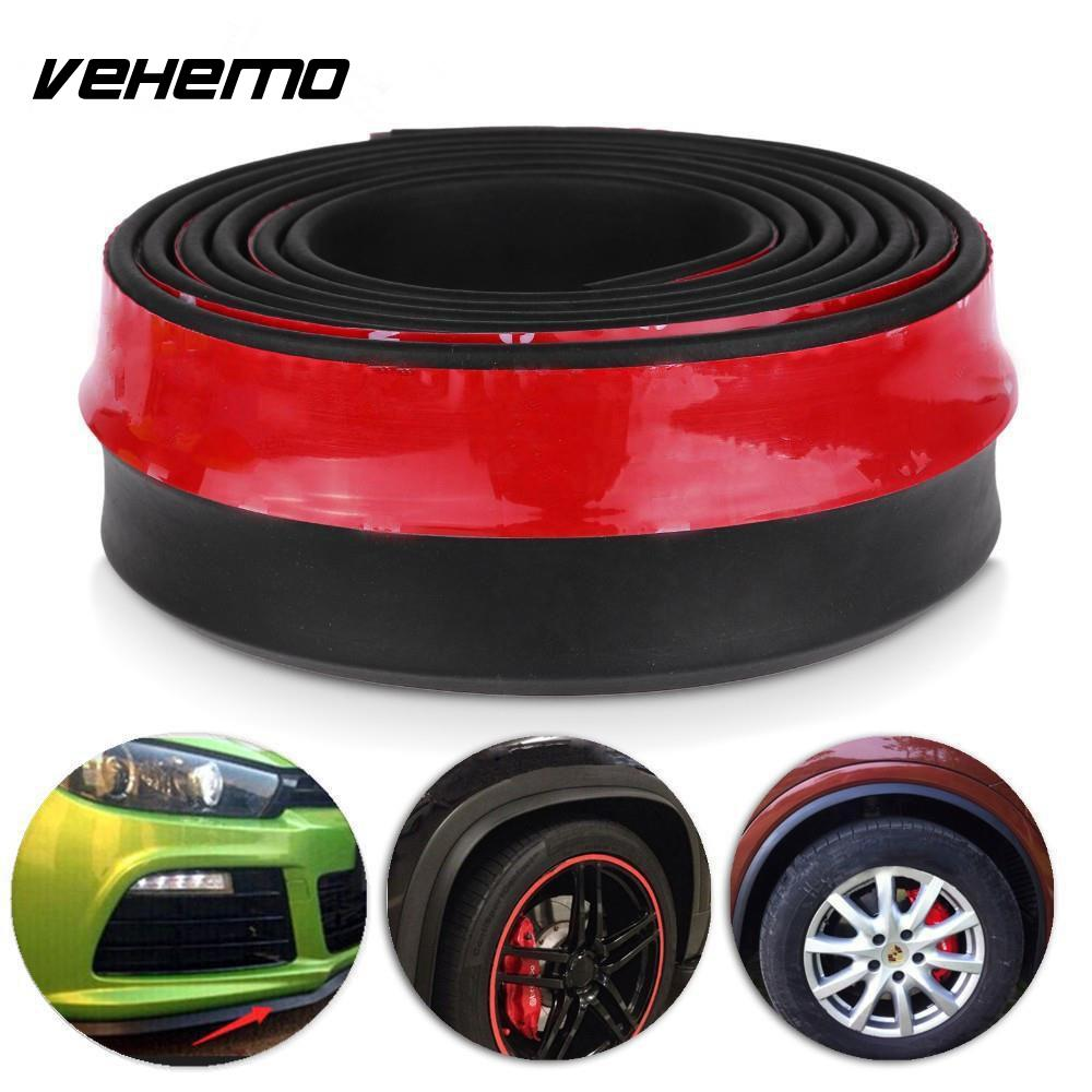 Vehemo 2.5M Universal Car Protector Front Bumper Lip Splitter Body Kit Bumpers Car Styling Accessiories