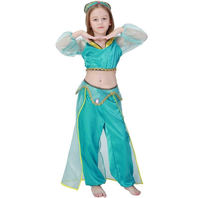 Ragazze Lampada Aladdin Principessa Jasmine Costumi ...