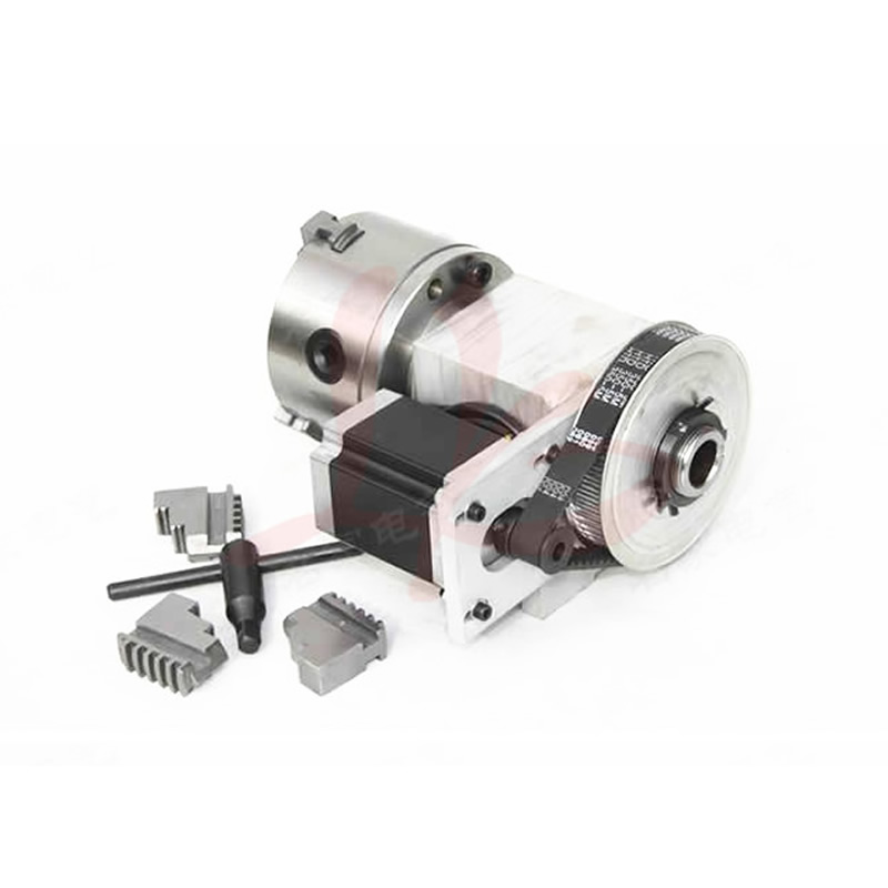 Mini CNC Milling Machine Parts Hollow Shaft CNC 4th Axis Rotary axis with 3 Jaw 100mm Chuck for CNC Wood Engraving Machine