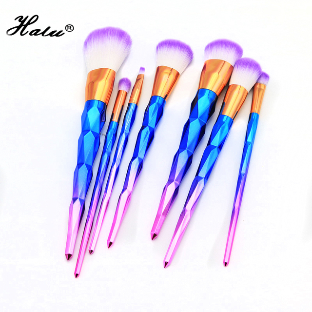 7Pcs Hot Unicorn Diamond Makeup Brushes Set Blending Foundation Eyeshadow Powder Blusher Cosmetic Brush Sets Tool Kits