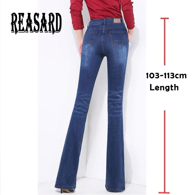 Extra Long Women Spring Autumn Boot Cut Jeans Girls Fashion Bell-bottom Business Casual High Waist Flared Pants