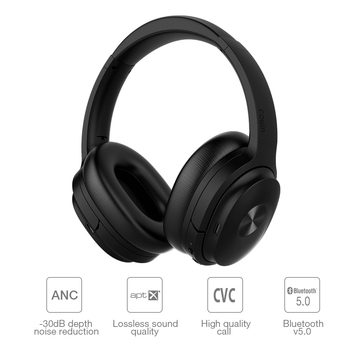 Cowin SE7 Active Noise Cancelling Wireless Bluetooth Headphones Foldable Over-ear Portable Headset for phones music apt-x 1