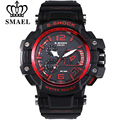 SMAEL S Shock Men Military Outdoor Sports Watches Digital LED Dual Display Quartz Wrist watch Man Rubber Strap Relogio Masculino