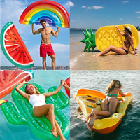 Swimming Ring Inflatable Watermelon Rainbow Pineapple Adult Pool Float Mattres Swimming Circle Life Buoy Kid Swimming Water Pool
