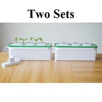 Two sets Mulifunctiinal DIY Grow vegetables fruit flower in living room or balcony Hydroponics system without earth green garden