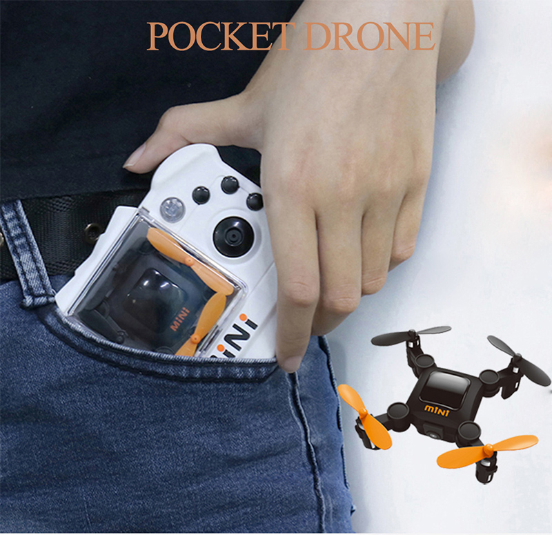 RC Drone Pocket Drone 4CH 6 Axis Gyro Quadcopter RTF RC Helicopter Toys Drones Dron Kids Xmas Gifts VS JY018