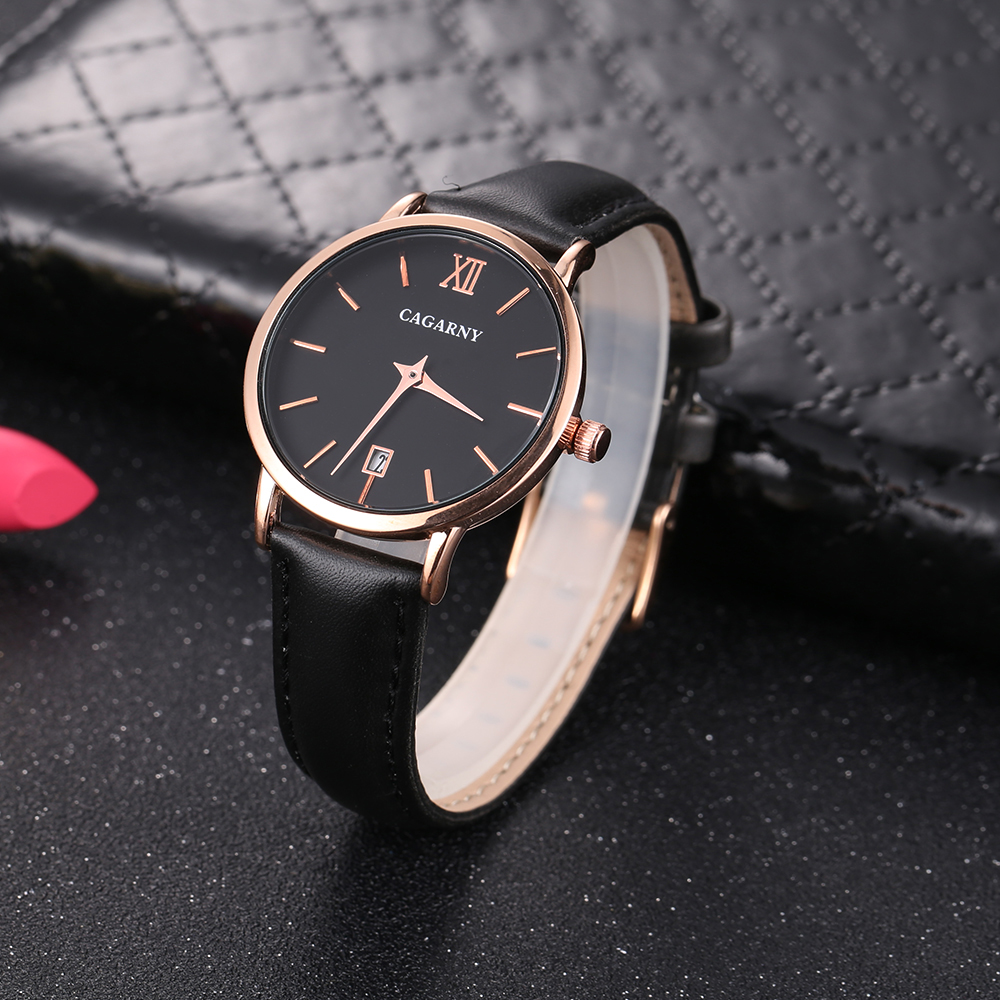 Cagarny Women Watches Luxury Brand Leather belt Ladies Quartz Women Watches 2018 Sport Relogio Feminino Rose Gold Montre Femme Wrist Watch high quality (10)