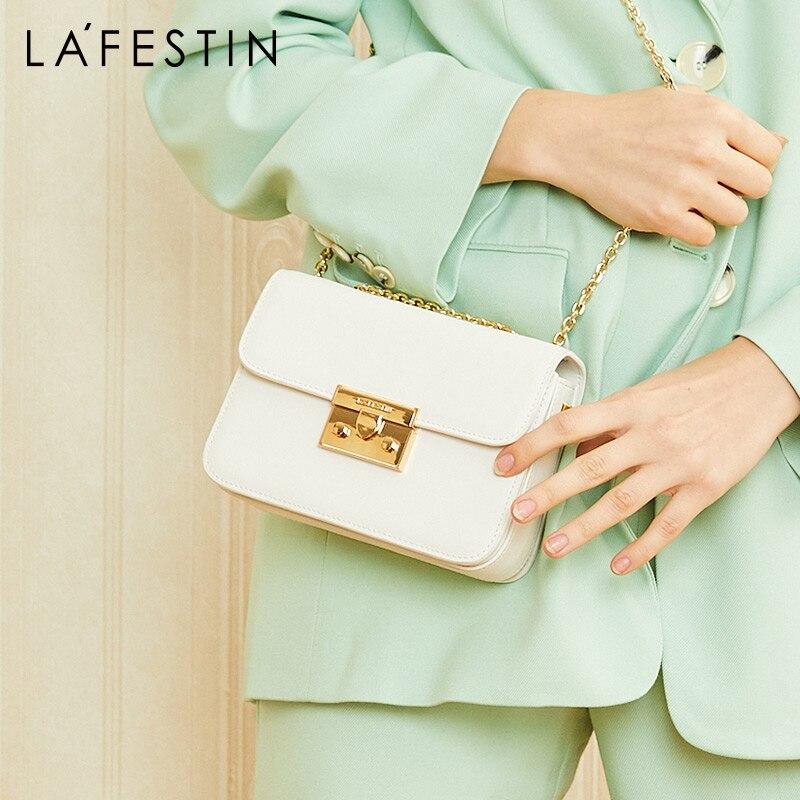 JIANXIU Brand Women Messenger Bags Female Shoulder Crossbody Genuine Leather Handbag 2019 Litchi Texture Small Tote