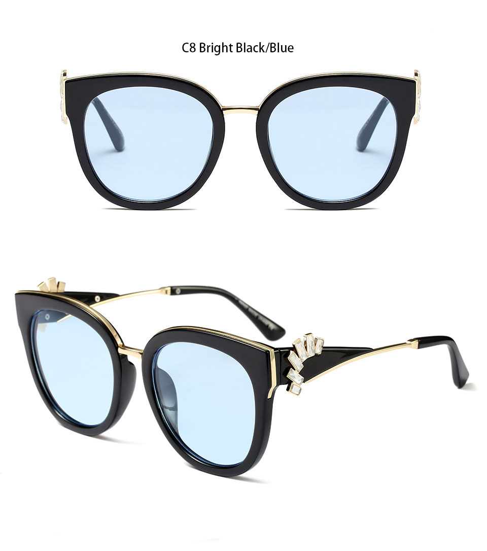 HTB1 Z8rd8USMeJjy1zkq6yWmpXaT - Oversized Crystal Acetate Black Cat Eye Sunglasses 2018