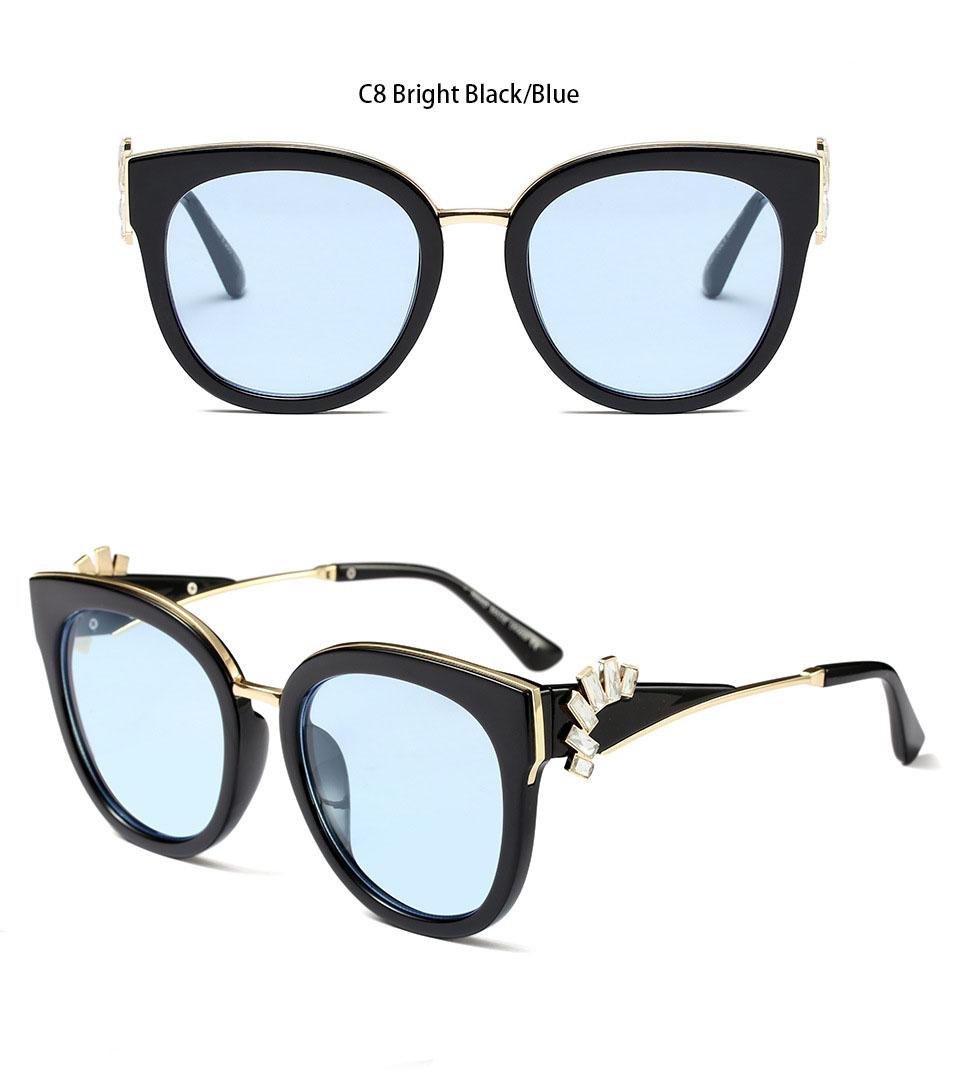 HTB1 Z8rd8USMeJjy1zkq6yWmpXaT - Oversized Crystal Acetate Black Cat Eye Sunglasses 2018