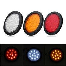 1 шт. задний бампер светодиодный свет грузовик для трейлер/RVs включить свет 4 «круглый море светодиодный водонепроницаемый светодиодный светильник красный/желтый/белый