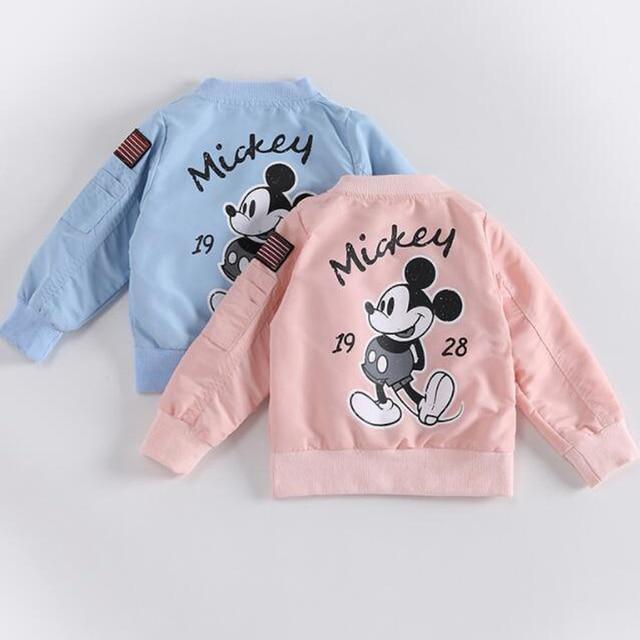 Fashion Baby Clothing Mickey Girls Boys Jackets Kids Coat Mickey's Clothes Infantil Autumn Spring Outwear Baseball Windbreaker | HOTSHOPDIRECT
