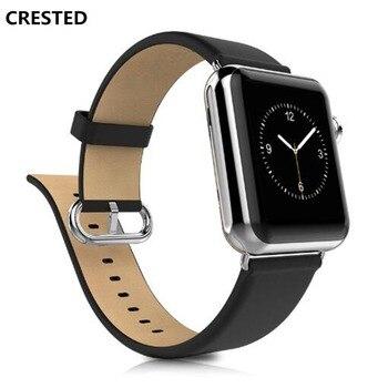 CERESTED Klasik Toka askısı apple saat bandı 42mm/38mm iwatch serisi 3 2 1 hakiki deri bilek bantları bilezik kemer