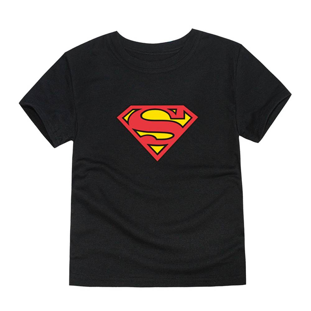HTB1 Z9LQVXXXXbQXXXXq6xXFXXXK - TINOLULING 2018 Kids Superman T-Shirt Boys Girls Batman T Shirt Children Tops Baby Tees For 2-14 Years