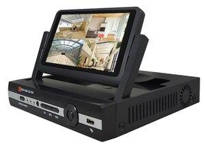 Камера видеонаблюдения, 4 канала, 1080N, цифровой видеорегистратор с 7-дюймовым ЖК-экраном, гибридный DVR, HVR, NVR, домашняя система безопасности JSA
