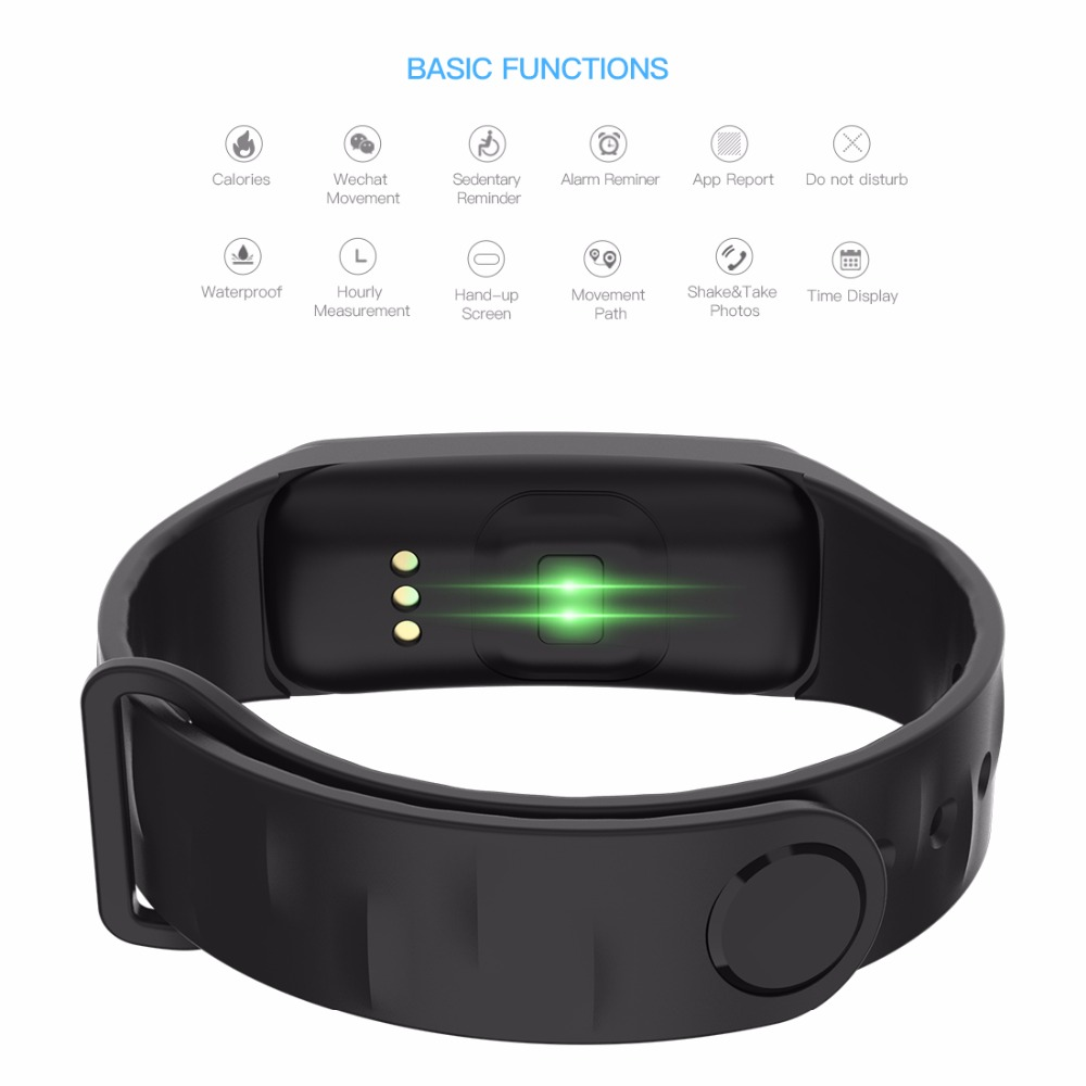 Lerbyee C1Plus Smart Bracelet Color Screen Blood Pressure Fitness Tracker Heart Rate Monitor Smart Band Sport for Android IOS 3