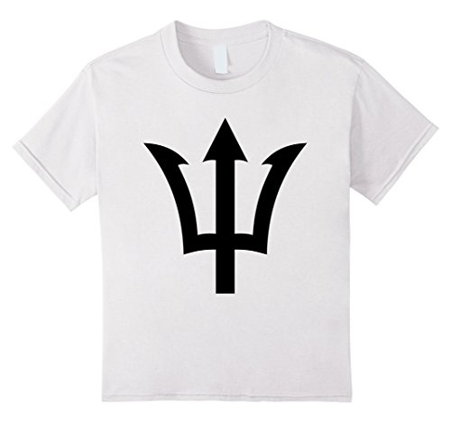 Novelty Design Men Poseidon Symbol T Shirt Trident Greek God