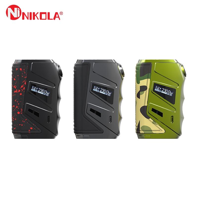 Nikola Wolverine Box Vape Mod 230W Powered By Dual 18650 Battery E Cigs Vape Vaporizer VS