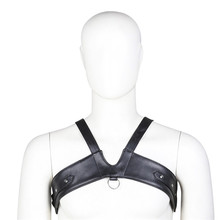 Fashion Sexy Mens Single Shoulder Underwear Imitation Leather Adjustable Body Chest Binding Gay Love Adult Products