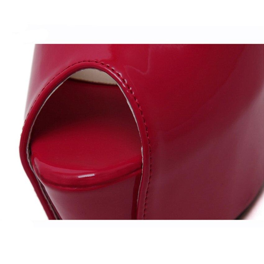 Femmes Haute Peep Talons Pompes black forme Parti Automne 2017 Chaussures Taille Plate D'été purple white Plus Apricot Sexy Bas Cm Style Rouge Spirale 16 red Toe La Épais STqanaX0H