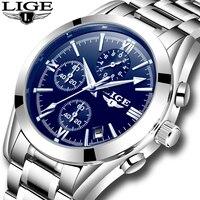 Relogio Masculion Men Top Luxury Brand LIGE Military Sport Watches Men S Quartz Clock Male Full