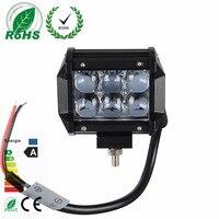 1Pcs Brand 4 Inch 4D 18W 6LED Projector Len Spot Beam LED Work Light Lamp For